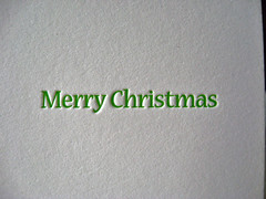 Fresh Cut Letterpress Holiday Card