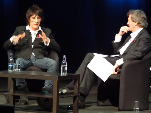 Ronnie Wood and Melvyn Bragg