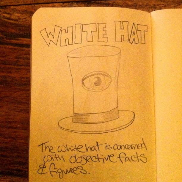 031111_ the white hat (03/50 #nanodrawmo)