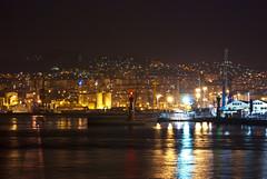 Guixar desde el mueller de trasatlnticos () Tags: puerto noche galicia vigo trasatlantico guixar