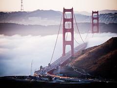 Life is like a slideshow (SF Lghts) Tags: sanfrancisco fog sunrise goldengatebridge olympusep1 coastalridgetrail