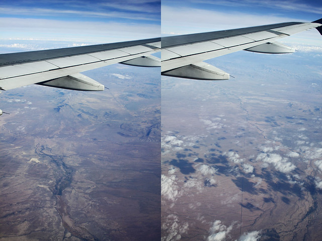 airplane window diptych 5