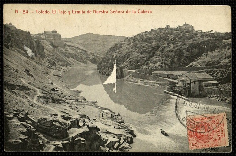 Ermita de la Cabeza a comienzos del siglo XX. Foto Thomas