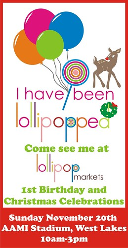 I'll be at the Lollipop market
