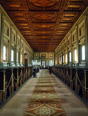 Michelangelo, Laurentian Library Reading Room Towards Front