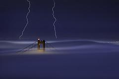 S T A T I C (Gia1898) Tags: sanfrancisco california longexposure summer moon fog canon september goldengatebridge marincounty lightning rare ef70200f4l southtower 2011 5dmarkii maxxsmart