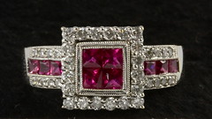 4038. 18KT Diamond and Ruby Ring