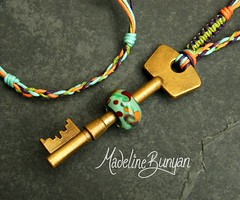 """Purple orange and green Bead on a Key Necklace • <a style=""""font-size:0.8em;"""" href=""""https://www.flickr.com/photos/37516896@N05/6323203657/"""" target=""""_blank"""">View on Flickr</a>"""
