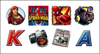 free Spiderman slot game symbols