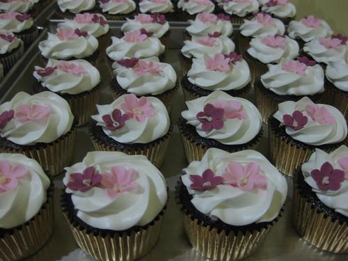 Pink & Purple Flower Cupcake - Bu Hj. Edi #1