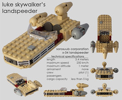 X-34 Landspeeder (bruceywan) Tags: new mos hope starwars lego luke corporation land homestead landspeeder speeder skywalker eisley tatooine x34 sorosuub repulsorcraft