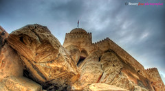 Mixture of Man-Made & Nature... Nakhal Fort . . . Oman . . . HDR (Beauty Eye) Tags: mountain green canon high rocks iron view fort melt tamron oman defence     600d     nakhal  flickraward  nakhalfort flickraward5 besutyeye