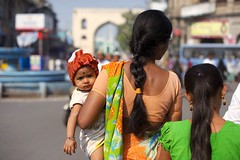 ... (nicolemariedev) Tags: people baby india mom culture hyderabad charminar 111111 laadbazaar tumblr 2011yip