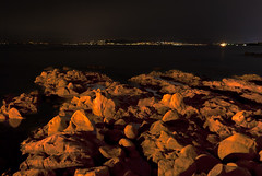 City on Mars (dav_pas) Tags: longexposure light sunset seascape france night landscape island rocks long exposure artificial paca cap var rockscape esterel dramont poselongue lungaesposizione capdramont iledor milkyeffect portpoussai
