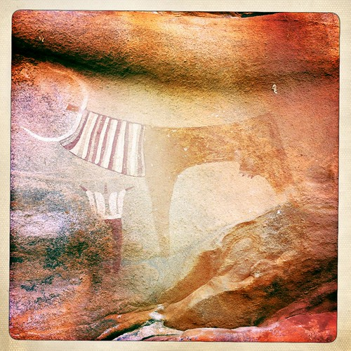 Rock paintings in Somaliland  thru Iphone Hipstamatic