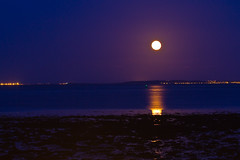 The moon rising over the Moray Firth (Kenneth Mands) Tags: moon themoon morayfirth