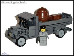 Lego ww2 -German Supplies Truck- (=DoNe=) Tags: world 2 by truck war lego made german custom done blitz officer opel legotruck legoww2 legoww2germansuppliestruck