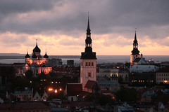 Beautiful evening in Tallinn (roomman) Tags: road street old city trip roof light red panorama building tower church stone wall architecture night lights evening town tallinn estonia village view cathedral russia fort stones weekend centre towers churches atmosphere aerial medieval roofs cobble holy alexander fortification russian orthodox cosy tallin nevsky citywall darl reval aereal russianorthodox 2011 alexandernevskycathedral alexandernevsky nevskycathedral