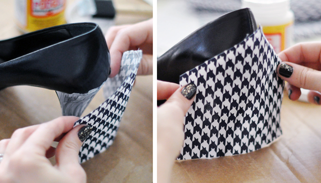 Houndstooth Shoes DIY - 4-1