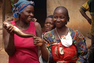 Fisherwoman and catfish, Cameroon. Photo by Randall Brummett, 2004