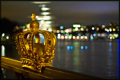 royal (with cheese) (Problemkind) Tags: water night krone wasser nacht sweden stockholm schweden crown