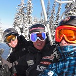 Roger Carry, Broderick Thompson and Martin Grasic training at Nancy Greene International Race Centre, Sun Peaks November 2011 PHOTO CREDIT: Brandon Dyksterhouse
