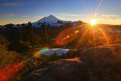 Kulshan Sunburst (Don Jensen) Tags: sun mountain snow canon point star volcano rocks artist baker tokina ridge mount sunburst komo sunstar 1116 40d kulshan kulkshan