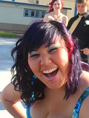 junior prom (tgi_christine) Tags: prom redhair curlyhair purplehair multicoloredhair