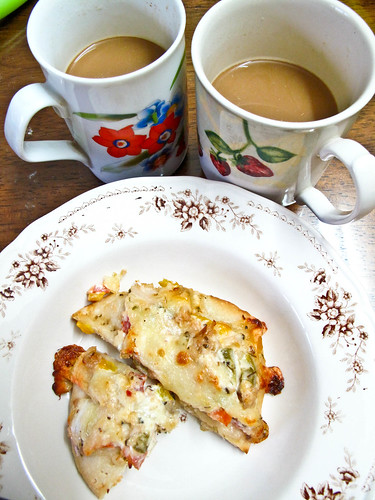 IMG_0549 Tea break : Homemade pizza and coffee for 2