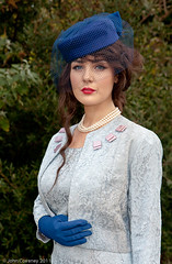 Beauty in Blue - EXPLORED (John Coveney Photos) Tags: blue ireland hat fashion veil pearls explore gloves regal ladylike beautyspot skyblue dunlaoghaire blueveil bluehat bluegloves bluesuit royalblue vintagefashion codublin explored beautyinblue bowlips ladylook johncoveney noraeastwood mrshinchcliffe