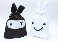 Saquinho de pano - Ninja e Smile (Galeria do Vou Comprar) Tags: smile ninja pano saco roupas proteger guardar portatreco saquinhos roupantima