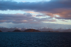 Patagonia (vanto5) Tags: chile park trip travel sea sky panorama patagonia snow nature water america sunrise trekking landscape tierradelfuego countryside mare nieve hill dramatic neve andes neige paysage cile paesaggio canonef24105mmf4lisusm lan