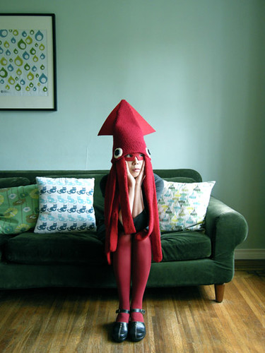 Squid Hat Costume / hine