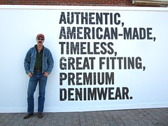 Denim Dude (Cowboy Tommy) Tags: portrait usa hot america model cowboy jean legs handsome wranglers hunk shades dude moustache levi denim redneck stache mustache tight levis bulge cowboyboots wrangler wrangs
