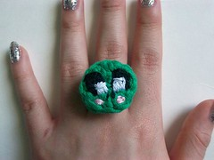 Froggy Crochet Ring (Mooy) Tags: cute animal shop handmade crochet jewelry rings kawaii etsy mooeyandfriends