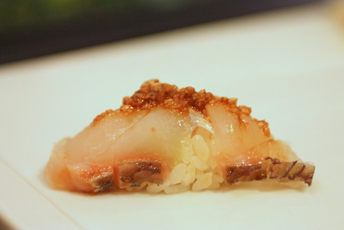 Madai (Red Snapper with Sesame Soy)