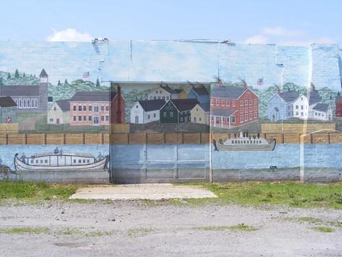 Warehouse mural