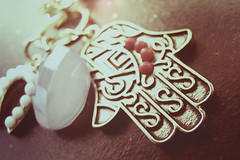 (Kenlea) Tags: macro necklace jewelry henna hamsa hamsahand handoffatima