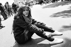 marie..... (andrealinss) Tags: street blackandwhite bw white black portait streetphotography schwarzweiss csd streetfotografie andrealinss