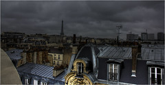 Paris Rooftops with Eiffel Tower