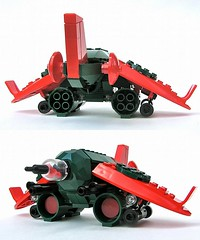 """RBT-703 """"Harlequin"""" (arTifaktory\/\/\) Tags: airplane model fighter lego frogspace"""