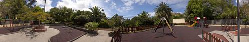 Parque infantil en el Parque Municipal de Arucas, Isla de Gran Canaria