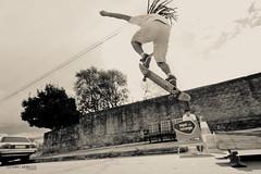 Rasta Sk8 (Luciano Meirelles) Tags: dreadlocks vintage fun flying jumping sunday ollie skate dreads retouch rasta sk8 bobmarley