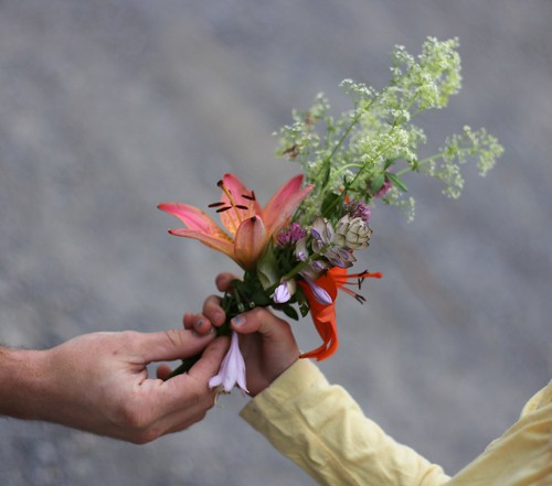the floral arrangement
