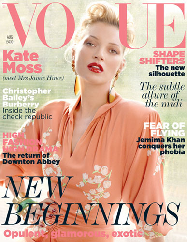 Kate Moss UK Vogue cover Aug 2011