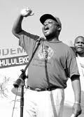 Mario Masuku of the Swaziland People's United Democratic Movement (PUDEMO) which has been under fire from the monarchy of King Mswati III. The South African government has been asked by the opposition to withhold aid. by Pan-African News Wire File Photos