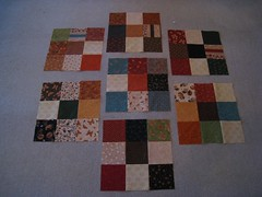 Disappearing Harvest Charm Squares