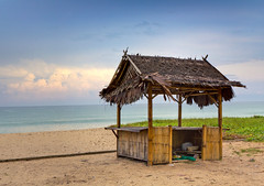 Bamboo Beach Shack (Jim Boud) Tags: ocean travel vacation seascape beach water clouds landscape thailand island sand asia southeastasia paradise turquoise relaxing vivid wideangle bamboo thai beachhut phuket efs lightroom artisticphotography superwideangle asiapacific beachshack bamboohut phuketisland jimboud canoneos60d jamesboud bambooshack canonefs1585mmf3556isusm canon1585mm