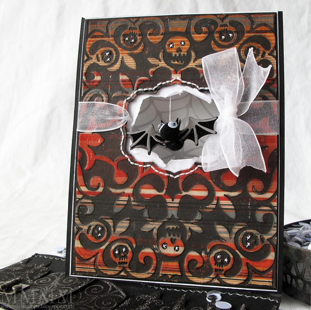 bats in the window card mel stampz
