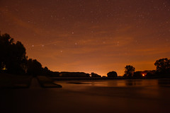 stars and water (NastyNinja) Tags: wood sky orange tree water beautiful night creek forest river dark munich stars bavaria lights star boat waterfall nice scary woods shoot ship eli darkness mark ninja breath atmosphere trail ii 5d shooting lover taking universe regensburg ratisbon nasty lappersdorf